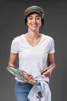 Artista pintora de retrato