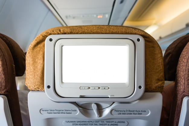 Asiento de avión con pantalla lcd individual