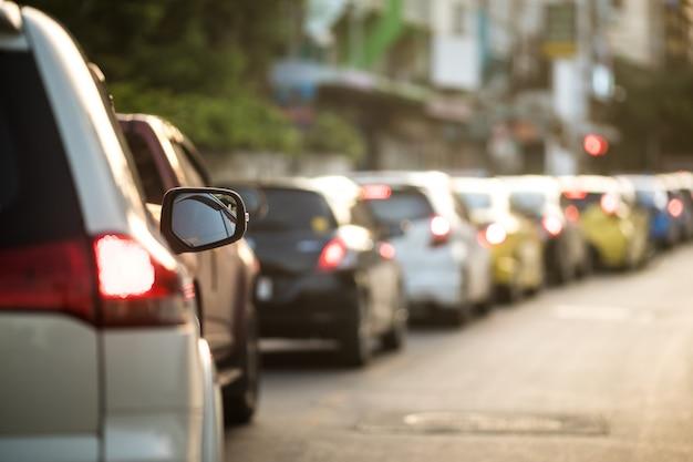 Atasco de tráfico en bangkok, tailandia.