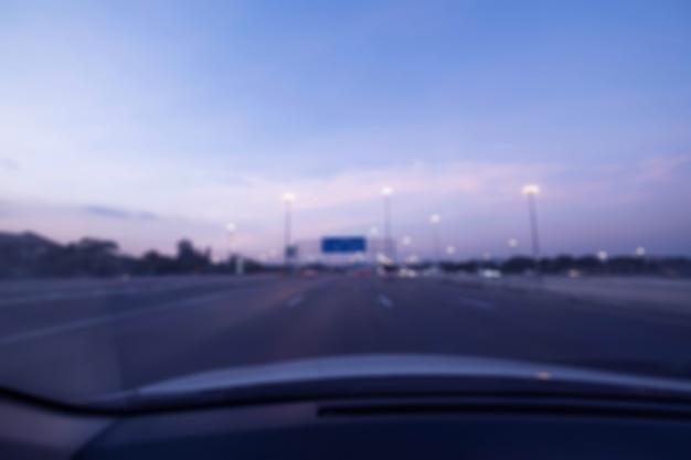 Atascos de tráfico en la ciudad: enfoque suave en hora punta y más borroso