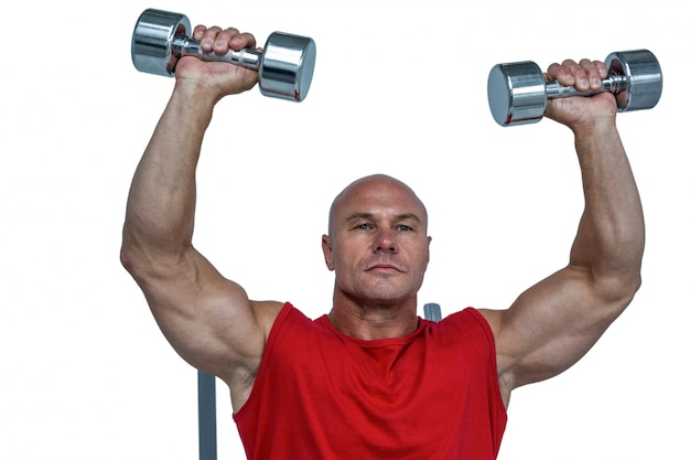Atleta levantando pesas