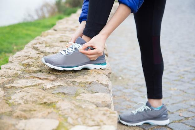 Atleta listo para correr
