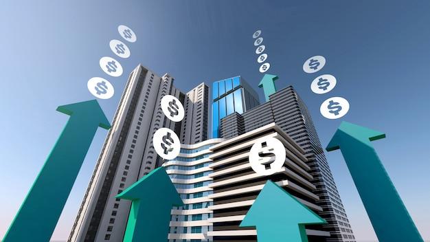 Aumento de dinero con inversiones inmobiliarias e inmobiliarias