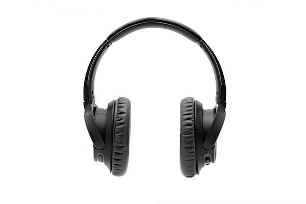 Auriculares inalámbricos negros inalámbricos aislados