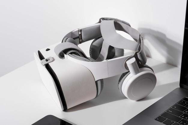 Auriculares vr por tecnología de juegos por computadora