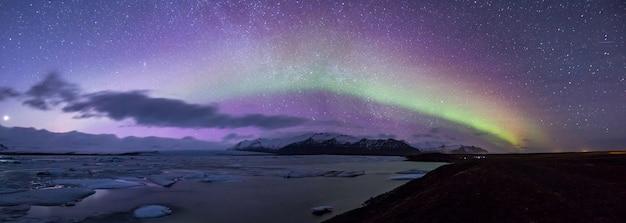 Aurora boreal panorama