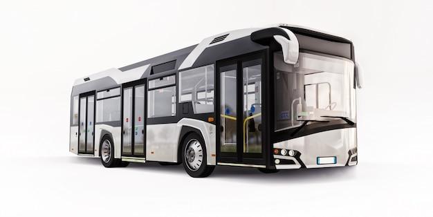 Autobús urbano blanco mediun