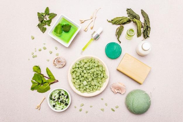 Autocuidado saludable. estilo de vida orgánico minimalista. confort y farmacia natural.