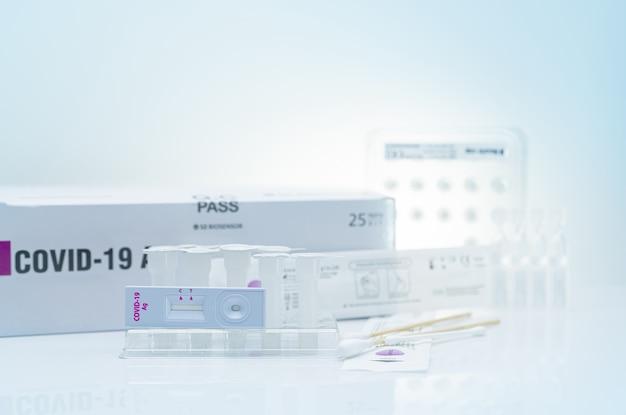 Autoprueba de antígeno covid 19 para hisopo nasal kit de prueba de antígeno para uso doméstico para la detección de coronavirus