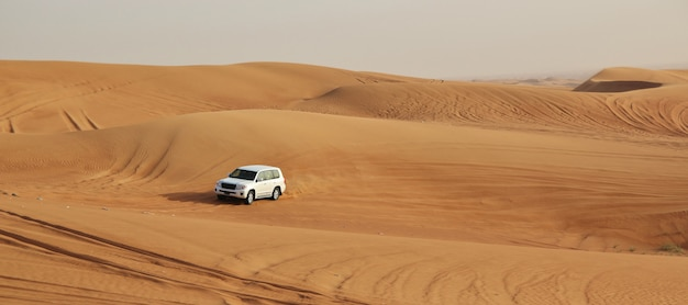 Autos en un desierto
