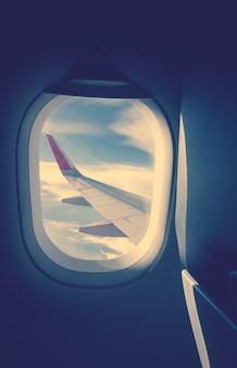 Avión, nadie, avión, horizonte, clase