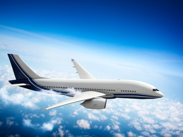 Avión skyline horizon flight cloud concept