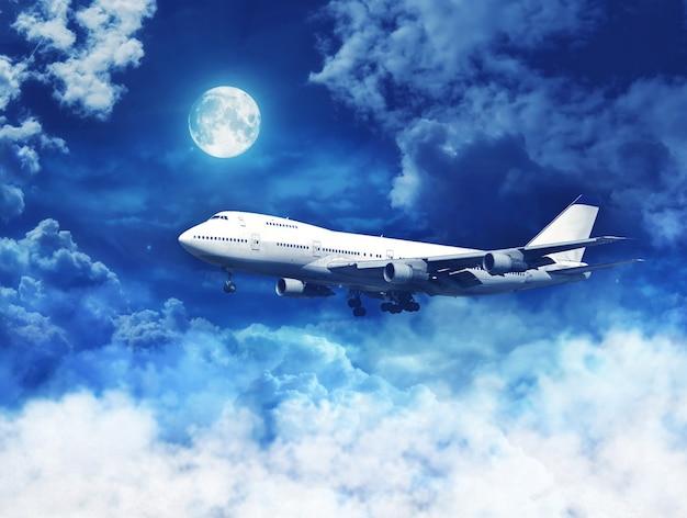 Avión sobre las nubes