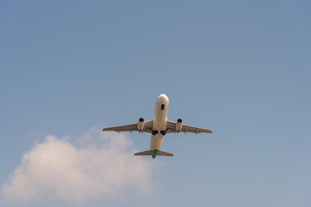 El avión volaba en el aeropuerto.
