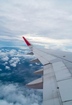 Avión, vuelo, por encima, nubes