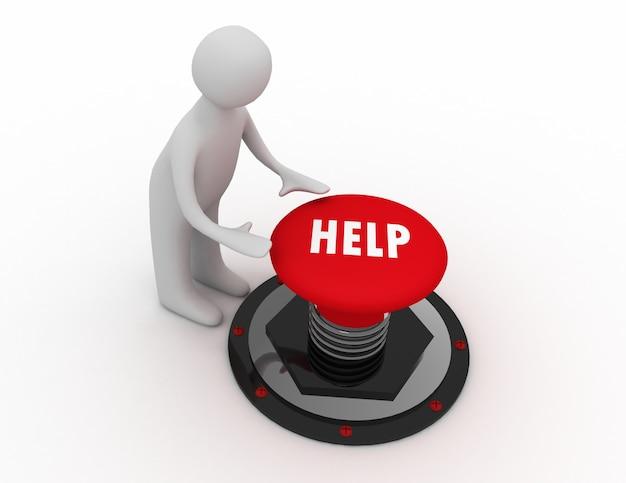 Ayuda de botón de hombre 3d
