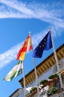 Ayuntamiento de marbella en el casco antiguo.