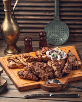Azeri tradicional lulya y tikya kebab
