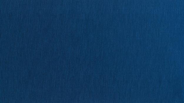 Azul con textura de tela de algodón sólida superficie sin costuras textura acanalada bandera