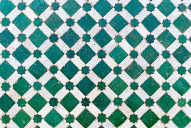Azulejos marroquíes con patrones árabes tradicionales, patrones de azulejos de cerámica