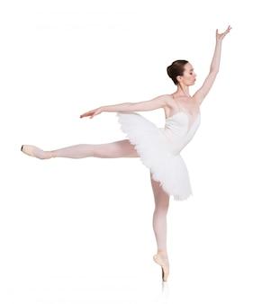 Bailarina bailando ballet aislado