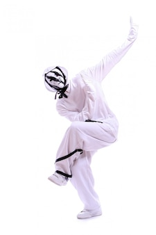 Bailarina de hip hop en la danza