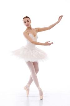 Bailarina realizando