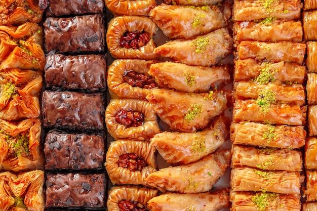 Baklava de postre turco