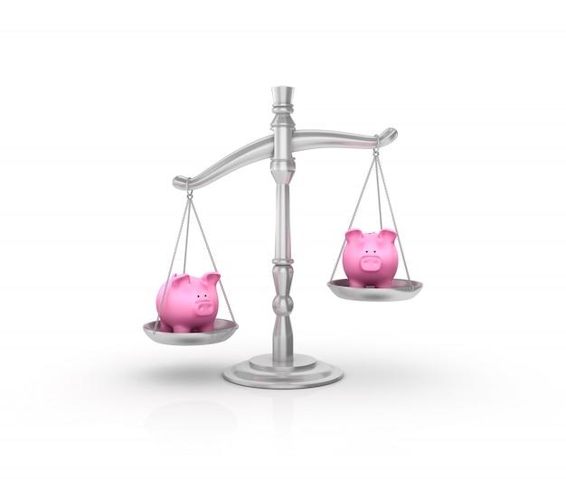 Balanza de peso legal con hucha