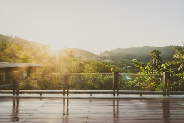 Balcon al aire libre