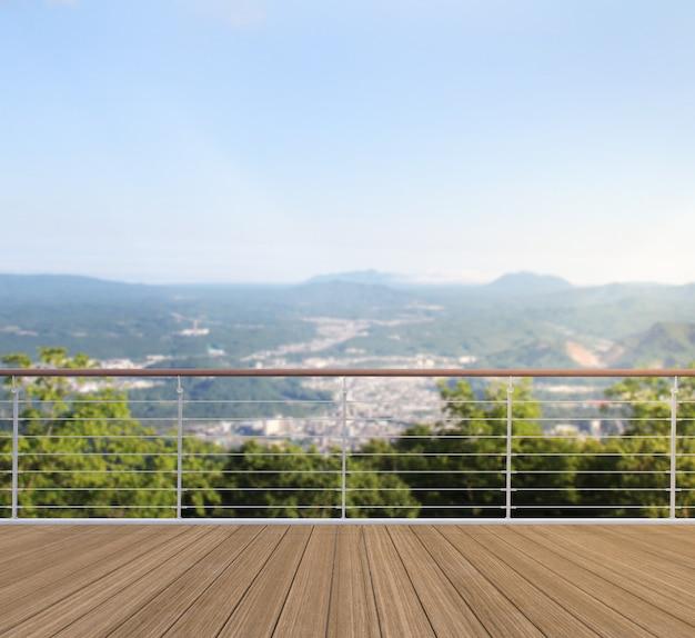 Balcón vista a las montañas