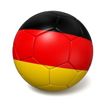 Balón de fútbol con la bandera de alemania