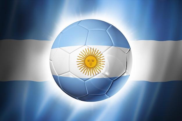 Balón de fútbol con la bandera argentina