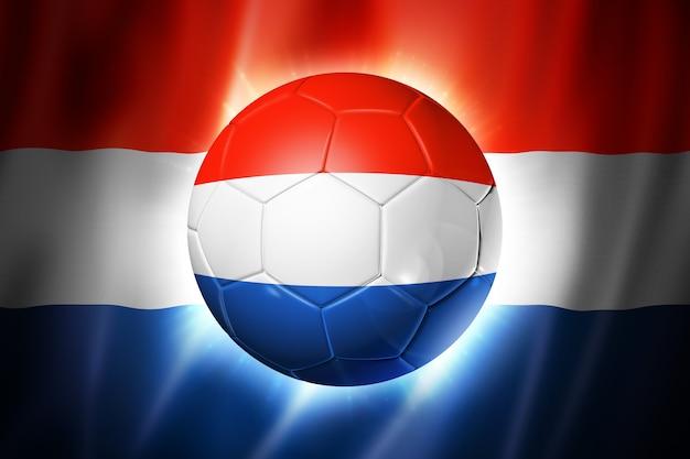 Balón de fútbol con bandera holandesa