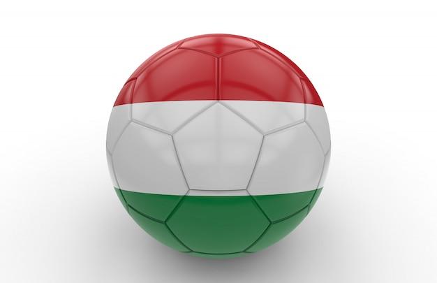 Balón de fútbol con bandera húngara