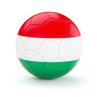 Balón de fútbol con la bandera de hungría