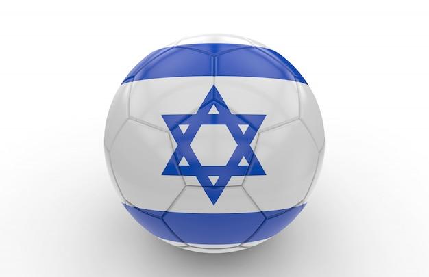 Balón de fútbol con bandera israelí