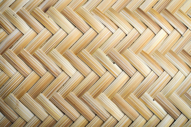 Bambú de tejido artesanal textura mimbre natural para el fondo