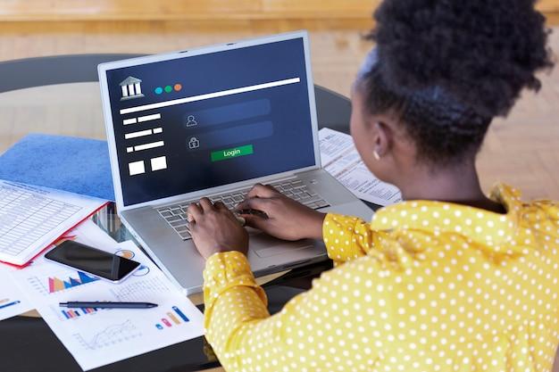 Banca en línea finanzas banca e-banking concept