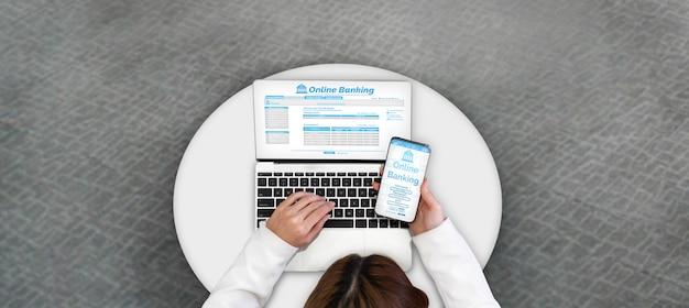 Banca en línea para tecnología de dinero digital