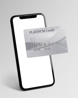 Banca móvil con tarjeta de crédito platinum