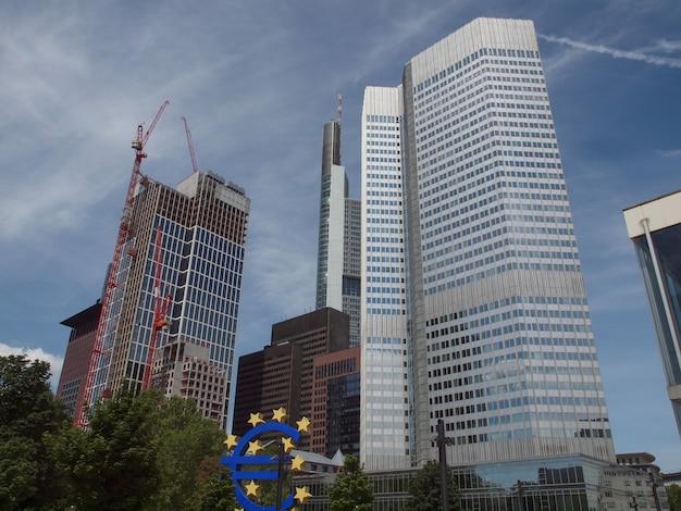 Banco central europeo en frankfurt