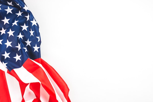 Bandera americana arrugada