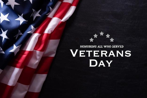 Bandera americana para el día de los veteranos