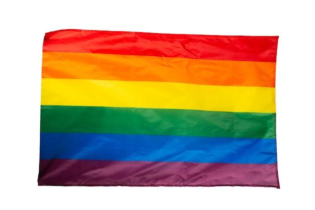 Bandera del arco iris como fondo. vista superior. bandera lgbt.