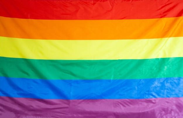 Bandera del arco iris como símbolo del primer plano de fondo lgbt
