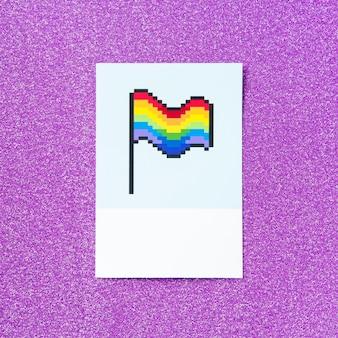 Bandera de arcoiris lgbt orgullo pixelado