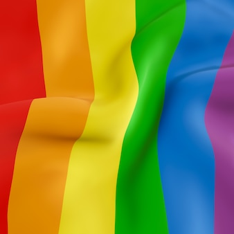 Bandera arcoiris ondulada