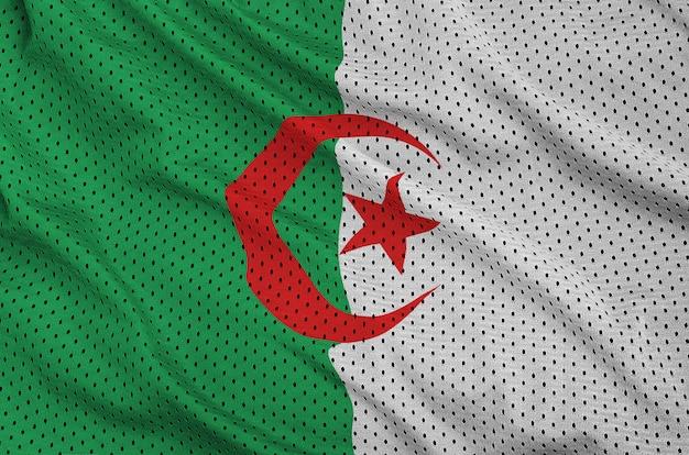 Bandera de argelia impresa en una malla de poliéster y nylon