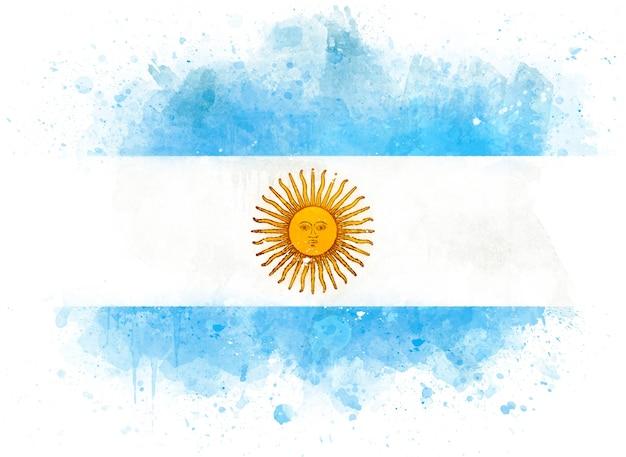 Bandera de argentina como ilustración acuarela